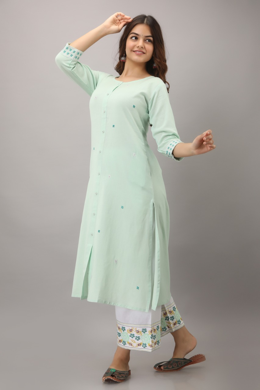 Embroidery and printing kurta